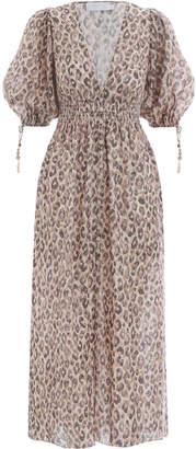 Zimmermann Melody Shirred Waist Dress