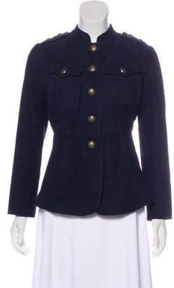 Temperley London Collarless Button-Up Jacket