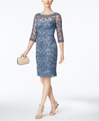 Tadashi Shoji Lace Illusion Sheath Dress $388 thestylecure.com