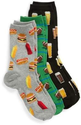 Hot Sox 3-Pack Football Socks