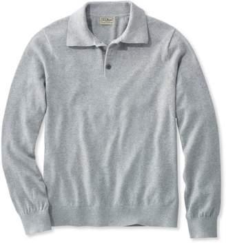 L.L. Bean L.L.Bean Cotton/Cashmere Sweater, Polo Long-Sleeve