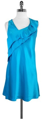 Ali Ro Teal Silk Sleeveless Dress $74.99 thestylecure.com