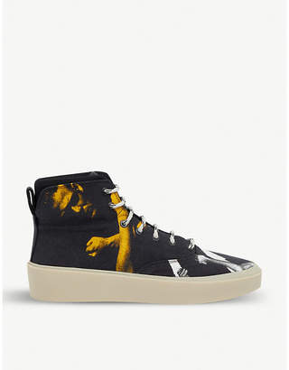 101 High Two-Tone Men graphic-print cotton trainers