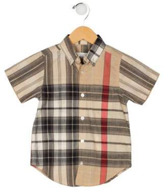 Burberry Boys' Button-Up Shirt tan Boys' Button-Up Shirt