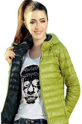 Women Overcoat Changeshopping Winter Warm Candy Color Thin Slim Down Coat Jacket (L, )