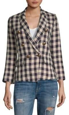 Smythe Mini Double-Breasted Linen Blazer