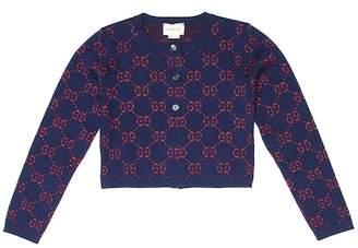 Gucci Kids GG cotton-blend cardigan