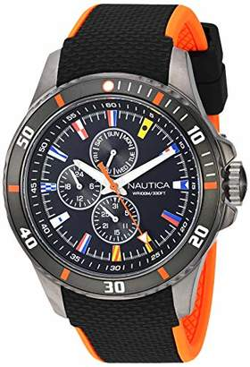 Nautica Men's 'Freeboard Multi' Quartz Stainless Steel and Silicone Casual Watch
