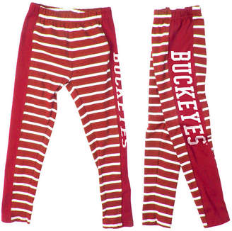 NCAA Authentic Apparel Ohio State Buckeyes Striped Leggings, Toddler Girls (2T-4T)