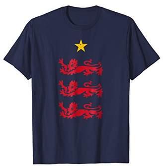England 2018 Heraldic Lions Soccer T-Shirt