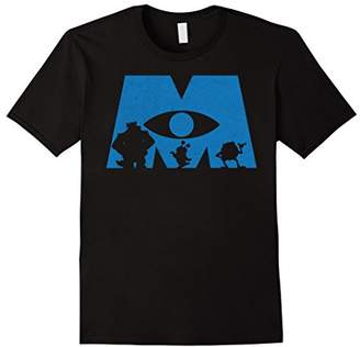 Disney Monsters Inc. Logo Silhouette Graphic T-Shirt