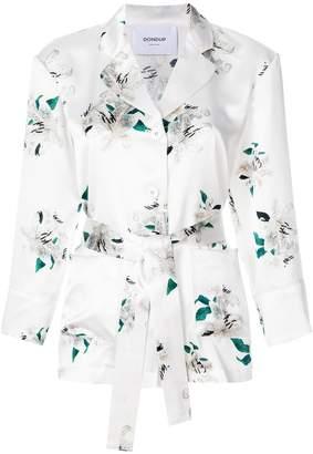 Dondup floral print belted blazer