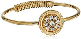 clear 1928 Jewelry 14k Gold-Dipped Spring Hinge Cuff Bracelet