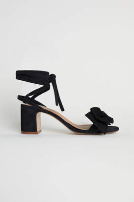 H&M Suede Sandals - Black
