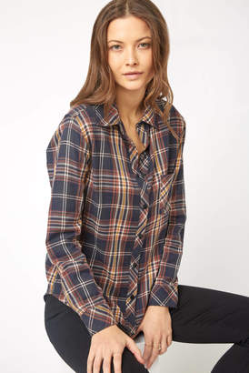 Vacate The Label Lurex Plaid Button Down Shirt