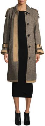 Burberry Oakville Reversible Tweed Trench Coat