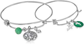 Disney Mommy & Me Stainless Steel Catch Jewelry Sets Featuring Tinkerbell Charms Bangle Bracelet