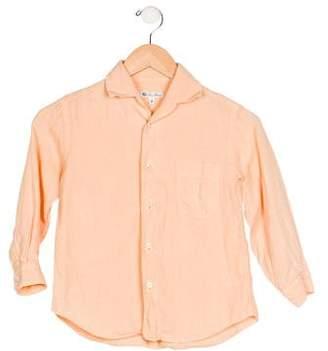 Loro Piana Boys' Collar Button-Up Shirt