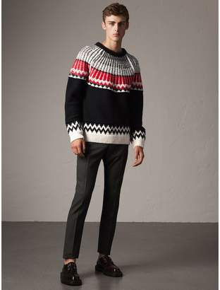 Burberry Fair Isle Wool Cashmere Sweater