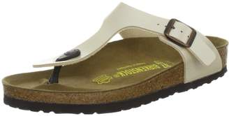 Birkenstock Women's Gizeh Cork Footbed Thong Sandal Off-White