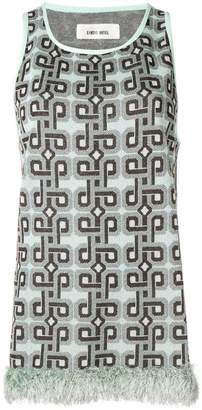 Circus Hotel geometric patterned top