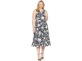 Lauren Ralph Lauren Plus Size B551 Coastal Floral Feliana Sleeveless Day Dress