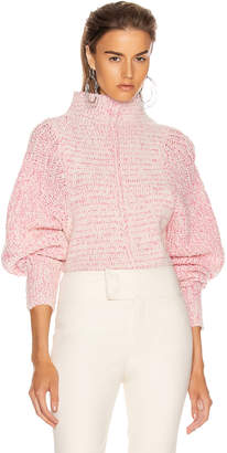 Isabel Marant Edilon Sweater in Neon Pink   FWRD