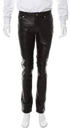 BLK DNM Cropped Leather Pants