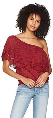 O'Neill Women's Sabrina One Shoulder Ruffle Top