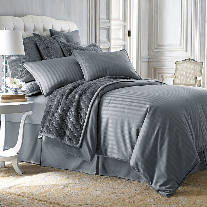 jcpenney king size bedding royal velvet 400tc damask stripe cotton comforter set 15671