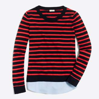 J.Crew Factory Striped sweater with woven hem