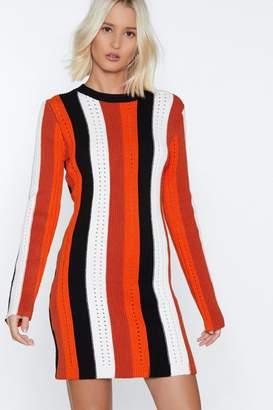 Nasty Gal Coming Stripe Away Knit Dress