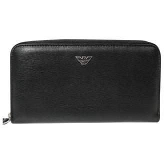 Emporio Armani Black Leather Wallets