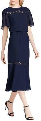 Ralph Lauren Lace-Inset Chiffon Dress