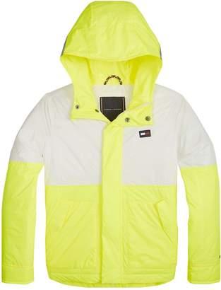 3868847b Tommy Hilfiger Boys Fluro Lightweight Hooded Jacket - Yellow
