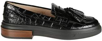 Tod's Tassel Detailed Crocodile Loafers