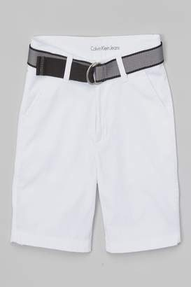 Calvin Klein Jeans Boys Belted Shorts