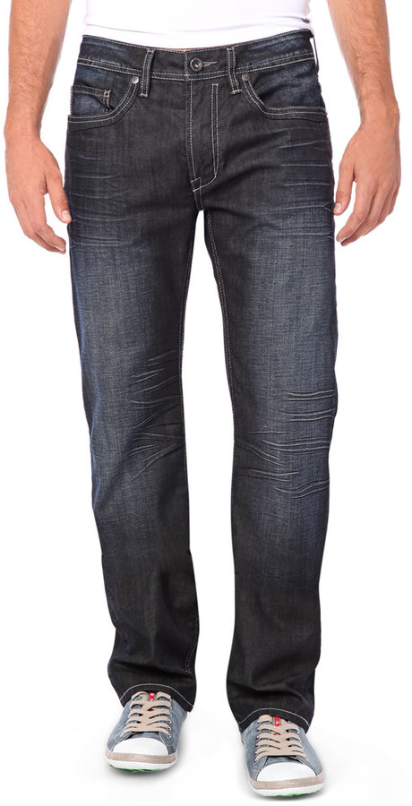 BUFFALO DAVID BITTON Faded Cotton Jeans