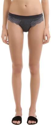 Stella McCartney Underwear Lily Blushing Cotton & Lace Briefs
