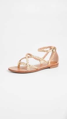 Soludos Amalfi Braided Metallic Sandals