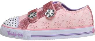 Skechers Infant Girls Shuffles Low Top Trainers Pink/Hot Pink