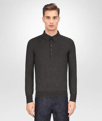 Bottega Veneta DARK GREY MERINO SWEATER