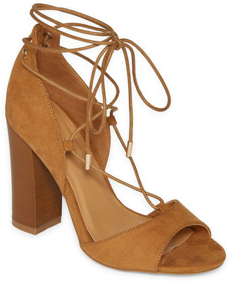 Bamboo Embark Lace-Up Dress Sandals $50 thestylecure.com