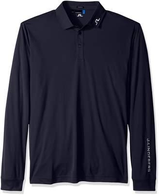 J. Lindeberg Men's Tour Tech Long Sleeve Jersey Polo Shirt