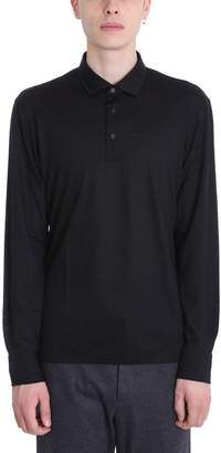 Ermenegildo Zegna Black Wool Polo
