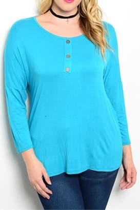 Moa Plus-Sized 3/4-Sleeve Tunic