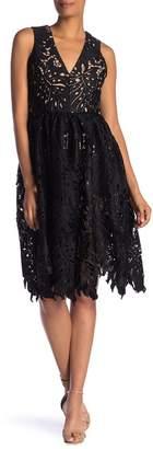 Dress the Population Rita Lace V-Neck Dress