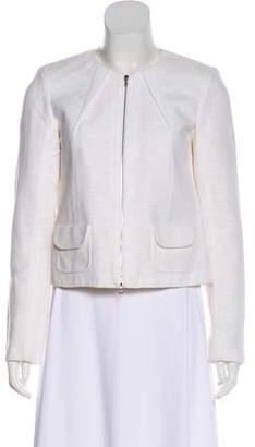 Roland Mouret Textured Long Sleeve Jacket