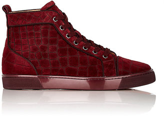 Christian Louboutin Men's Louis Sneakers-BURGUNDY $995 thestylecure.com