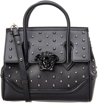 Versace Stud Palazzo Empire Leather Bag